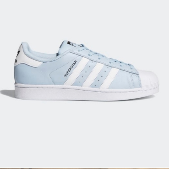 Adidas baby blue Superstar sneakers
